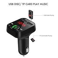 Bluetooth FM Verici Araç Kiti Dijital LCD LED TF MP3 Çift USB Þarj