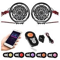Motosiklet Bluetooth FM Radyo MP3 Ses Sistemi Stereo Hoparlör Alarm