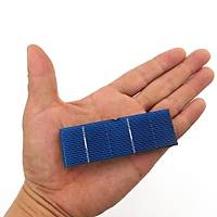 Fotovoltaik Güneþ Paneli Monokristal 50 Adet 0.37 W 78*26mm DIY