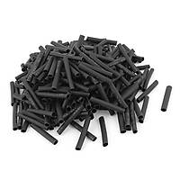 Polyolefin Isý Shrink Tüp Daralan Makaron Boru 240 Adet Siyah 3mm x 30mm