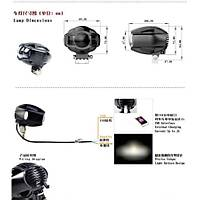 Motosiklet 20W 3000LM LED Far Lamba USB Telefon Þarj Yuvalý