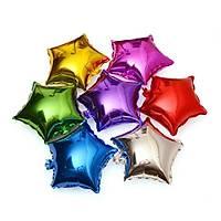 Folyo Balon 3 Farklý Renk Yýldýz 5'li Parti Süsleme