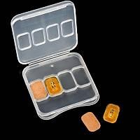 NFC Çip Parlayan Akýllý Týrnak Etiket LED Iþýk 2 takým 4 Adet Set