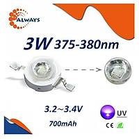 3W UV Boncuk Power Led 375-380nm 700 mAh Ø 8mm 3.2-3.4V
