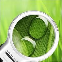3X 4.5X Katlanabilir Ayarlý Büyüteç 10 Led Iþýk El veya Masa Akrilik Optik Lens
