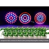Tam Spektrum 54 Led Bitki Çiçek Büyütme Hidroponik Aydýnlatma