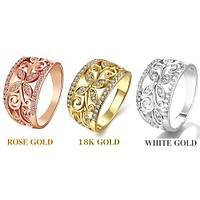 Beyaz Rosegold Altýn Kaplama Yüzük