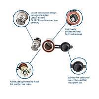 12V Araç Çakmak Soketi Mavi LED 12V Çift USB Þarj Adaptörü