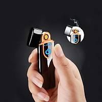 Elektronik Alevsiz Dokunmatik Çakmak USB Þarjlý LED Ekran Tesla Bobin