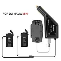 DJI Mavic Mini Ýçin 3 in 1 Araç Þarj Cihazý 50 Dakika Hýzlý Þarj