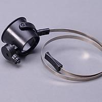 Kafa Büyüteç x15  LED Iþýklý Monoküler Kuyumcu Saatçi Tamir Göz Lens