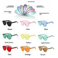 UV400 Çerçevesiz Polikarbon Güneþ Gözlüðü Unisex Yuvarlak Renkli Lensler
