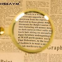 60mm 10X Optik Cam Lens Büyüteç Bakýr Çerçeve Ejderha Desenli Sap