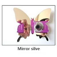 Ev Dekorasyon 3D PVC Kelebek 12 li Duvar Süsleme Silver Aynalý V4