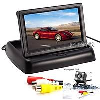 Araç Dikiz CCD Kamera - 4.3 Katlanýr LCD Dash Monitör Video Oynatýcý