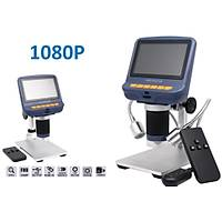 Dijital USB Mikroskop 220X 1080P 4.3 inç UV Filtre Fotoraf Video Dahili Ekran