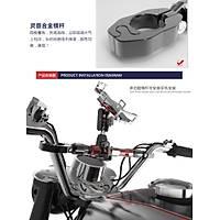 CNC Alüminyum Motosiklet Gidon Crossbar Ayarlanabilir Uzunluk