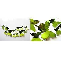Ev Dekorasyon 3D PVC Kelebek 12 li Duvar Süsleme Silver Aynalý V3