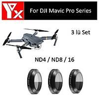 DJI Mavic Pro Platinum Gimbal Kamera Lensi Ýçin 3 lü Filtre Set ND4 / ND8 / ND16 2