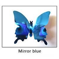Ev Dekorasyon 3D PVC Kelebek 12 li Duvar Süsleme Mavi Aynalý V1