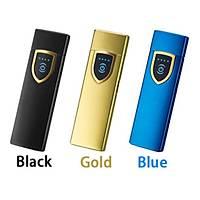 Alevsiz Çakmak Parmak Ýzi Dokunmatik Sensör USB Þarjlý Gold Shield