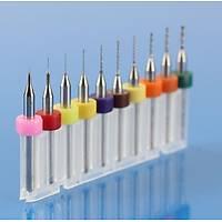 PCB Mikro Karbür CNC Matkap Ucu 10lu Gravür Set 0.1mm-1.00mm Tungsten