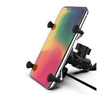 Motosiklet Bisiklet USB Þarjlý Evrensel Metal Cep Telefonu Standý Ayna Altý Montaj
