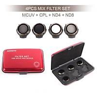Dji Mavic Pro Kamera Ýçin Kýzaklý Optik Lens 4 lü Filtre Set MCUV / CPL / ND4 / ND8