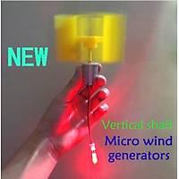 DC Mikro Motor Küçük LED Dikey Eksen Rüzgar Türbini Jeneratörü