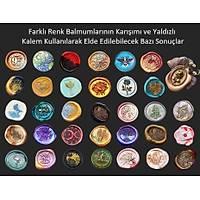 Mektup Damga Mühürü Þeftali Çiçeði + 30 Mühür Mumu + Kaþýk