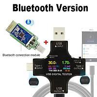 BT 3.0 Tip-C DC Test Renkli Dijital Volt-Ampermetre Akým Ölçer