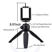 Mini Tripod + Telefon Tutucu Klip SLR Dijital Kamera Aksiyon Kamera