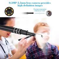 Kulak Burun Boðaz Endoskop Muayene USB Kamera 6 Led 5.5mm Lens 0.3MP PC