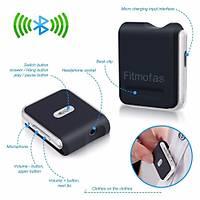 Bluetooth 4.2 Stereo Ses Alýcýsý Hands-Free Araç Kiti Yaka Klipsli Ses Aktarým Cihazý
