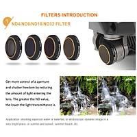 Dji Mavic Pro Kamera Lens Ýçin 4 lü Filtre Seti ND4/ND8/ND16 /ND32 Nötür Yoðunluk