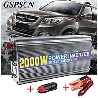 24V 220V 2000W Power Ýnverter Adaptörü Akü Dönüþtürücü