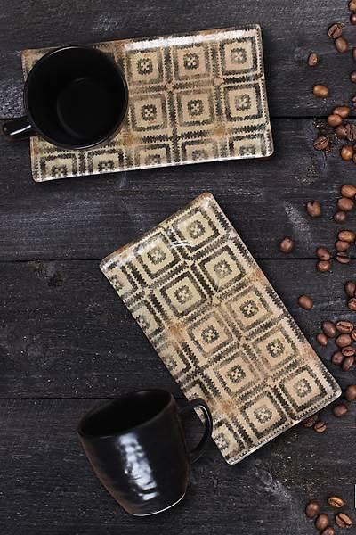 Desenli Kahve Sunum Seti 2 Kiþilik