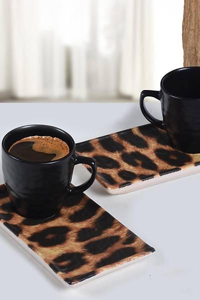 Leopar Kahve Sunum Seti 2 Kiþilik