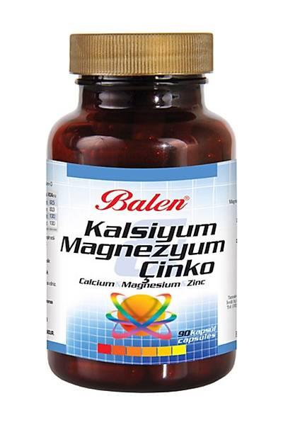 Magnezyum-Kalsiyum-Çinko takviye kapsül (Kutuda 90 Adet) 2 kutu fiyatý