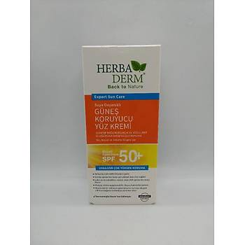 HerbaDerm Güneþ Koruyucu 50+ Spf Yüz Kremi 75 Ml
