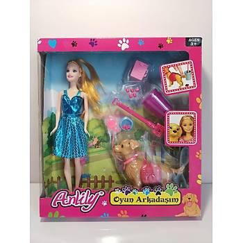 Tuvaletini Yapan Köpekli Barbie Bebek