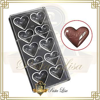 Polikarbon Çikolata Kalýbý - Love Kalp