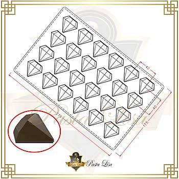 Polikarbon Çikolata Kalýbý - Elmas (Özel Seri)
