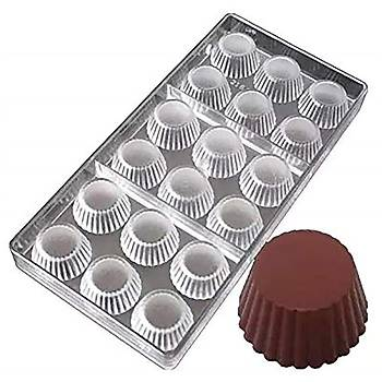 Polikarbon Çikolata Kalýbý - Týrtýklý Yuvarlak