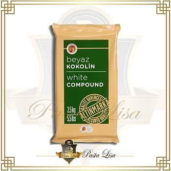 Altýnmarka Konfiseri/Kokolin Kuvertür 2,5kg - Beyaz