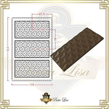 Polikarbon Çikolata Kalýbý - 3D Desen (Özel Seri)