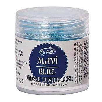 Dr.Gusto Yenilebilir Metalik Toz Boya 4gr - Mavi