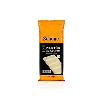 Schöne Beyaz/Fildiþi Mini Kuvertür Çikolata 200g