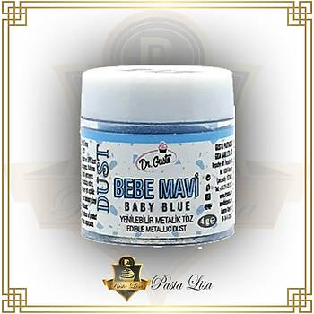 Dr.Gusto Yenilebilir Metalik Toz Boya 4gr - bebe mavi