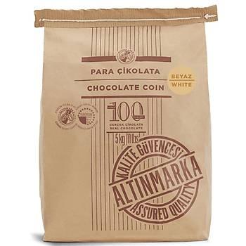 Altýnmarka Beyaz Pul Çikolata 5kg